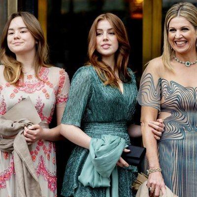 Máxima de Holanda, Alexia de Holanda y Ariane de Holanda en el concierto por el 50 cumpleaños de Máxima de Holanda
