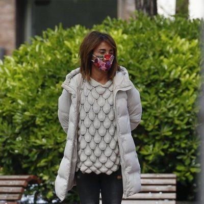 María Patiño con mascarilla en Madrid