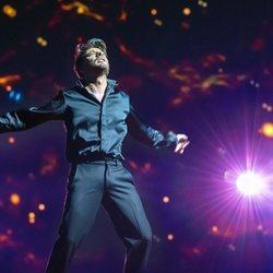 Blas Cantó durante su primer ensayo en Rotterdam para Eurovisión 2021