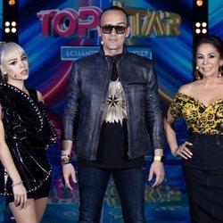 Danna Paola, Risto Mejide e Isabel Pantoja en el segundo programa de 'Top Star'