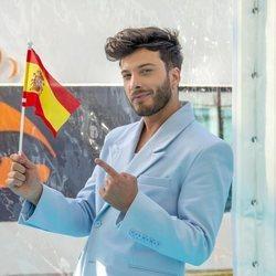 Blas Cantó en la 'Alfombra Turquesa' del Festival de Eurovisión 2021