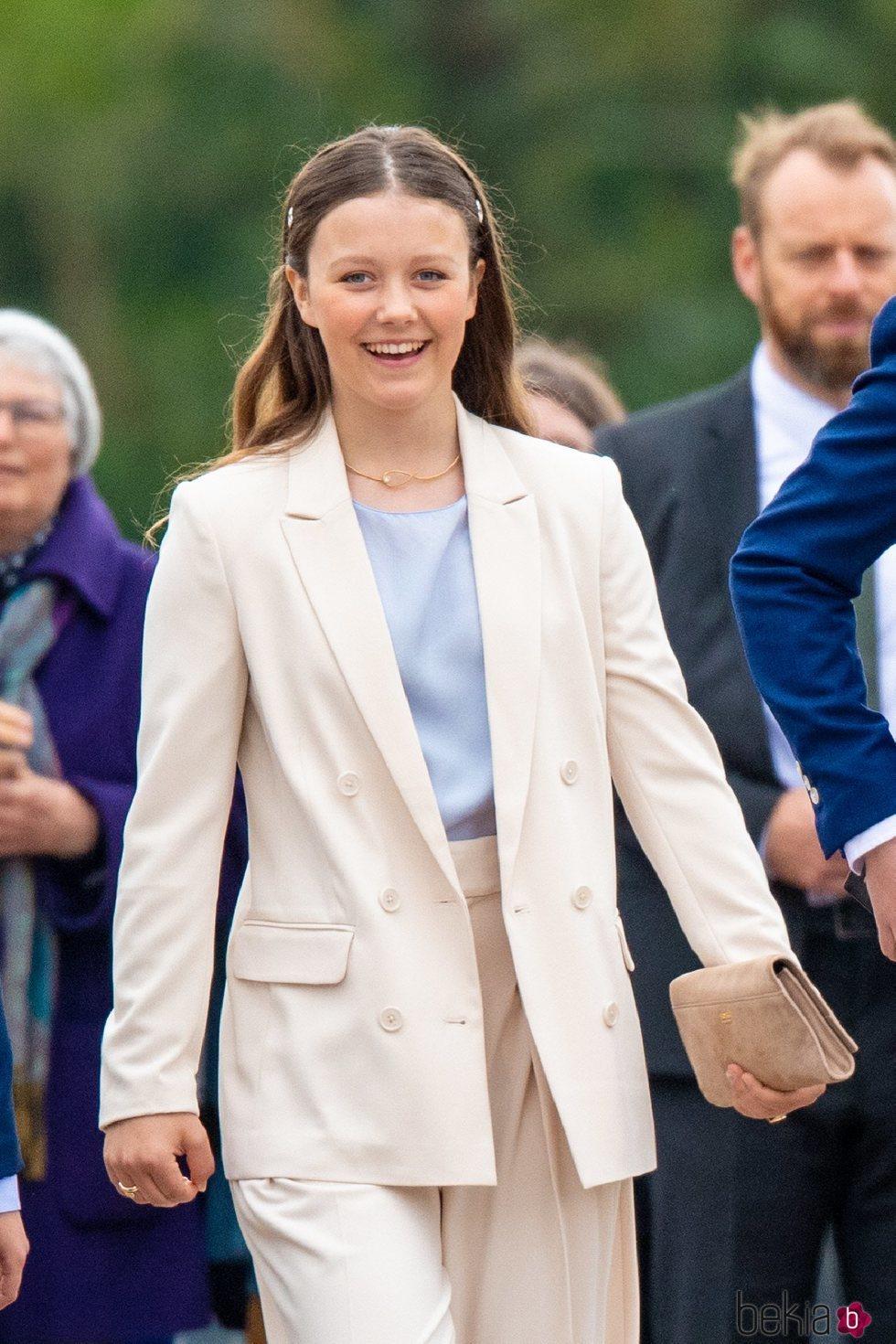 Isabel de Dinamarca en la Confirmación de Christian de Dinamarca