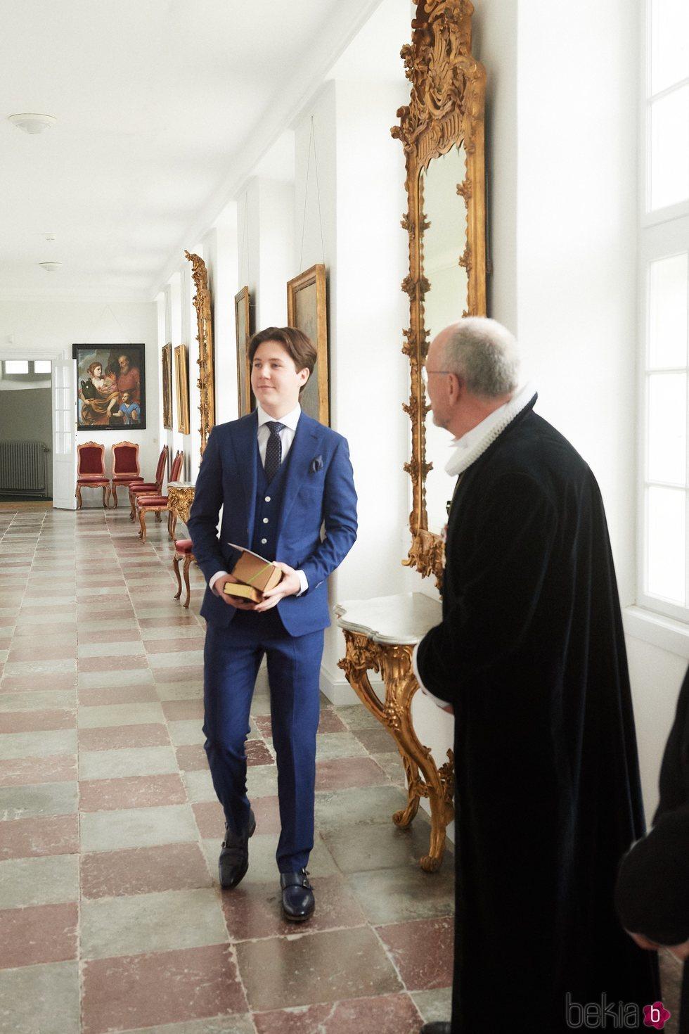 Christian de Dinamarca en su Confirmación en Fredensborg