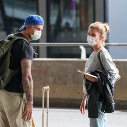 Juana Acosta regresa a Madrid junto a Charles Azalet