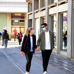 Álvaro Morata y Alice Campello, cómplices por las calles de Turín