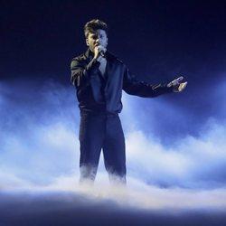 Blas Cantó actuando en el Festival de Eurovision 2021