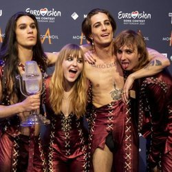 El grupo Måneskin, representante de Italia, ganador de Eurovision 2021