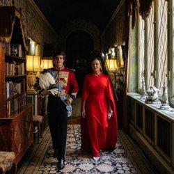 Carlos Fitz-James Stuart con su madre, Matilde Solís, en su boda con Belén Corsini