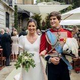 Carlos Fitz-James Stuart y Belén Corsini en su boda