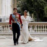 Carlos Fitz-James Stuart y Belén Corsini el día de su boda