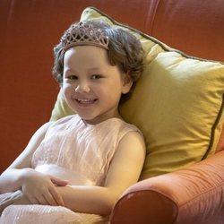 Mila Sneddon en su encuentro con Kate Middleton en el Palacio de Holyroodhouse
