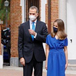 El Rey Felipe y la Princesa Leonor en la Confirmación de la Princesa Leonor