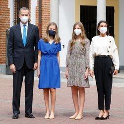 Los Reyes Felipe y Letizia, la Princesa Leonor y la Infanta Sofía en la Confirmación de la Princesa Leonor