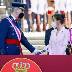 Los Reyes Felipe y Letizia presiden el Día de las Fuerzas Armadas 2021 en Madrid