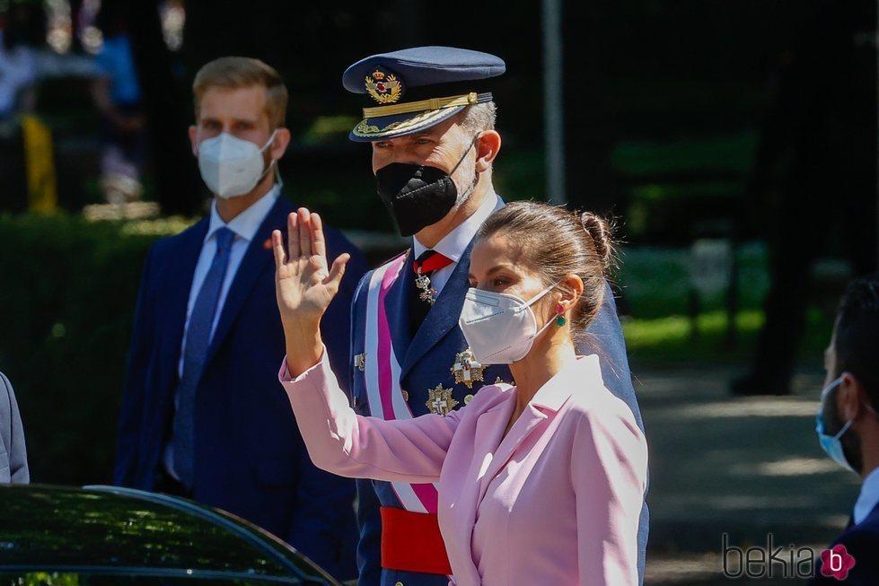 Los Reyes Felipe y Letizia presidiendo el Día de las Fuerzas Armadas 2021 en Madrid