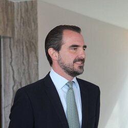 Nicolás de Grecia en una cena de ELIZA Society en Atenas