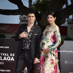 Canco Rodríguez y Marta Nogal en la gala de inauguración del Festival de Málaga 2021