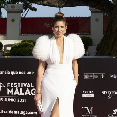 Lucía Jiménez en la gala de inauguración del Festival de Málaga 2021