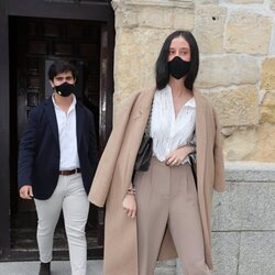Victoria Federica y Jorge Bárcenas en el bautizo de la hija de María García de Jaime y Tomás Páramo