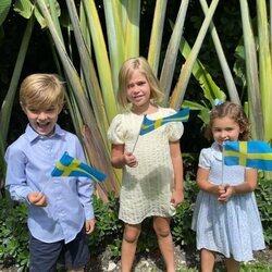Leonor, Nicolás y Adrienne de Suecia celebran el Día Nacional de Suecia 2021 en Miami