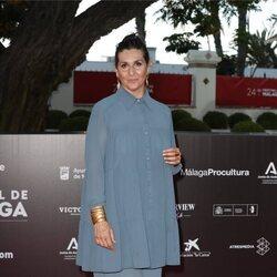 Elvira Mínguez en la alfombra roja del Festival de Málaga 2021
