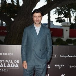 Javier Rey en la alfombra roja del Festival de Málaga 2021