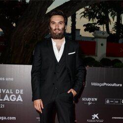 Ricardo Gómez en la alfombra roja del Festival de Málaga 2021