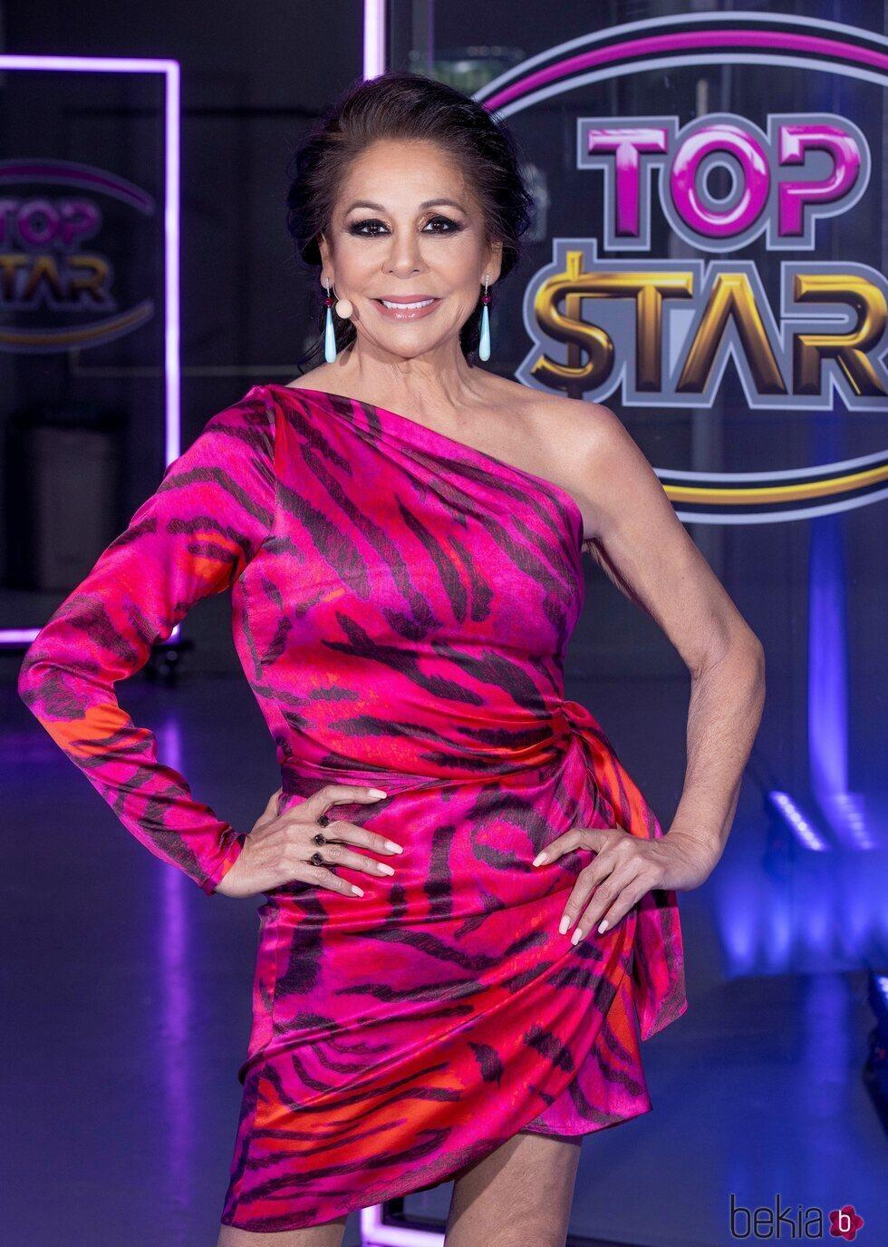 Isabel Pantoja posando en el cuarto programa de 'Top Star'