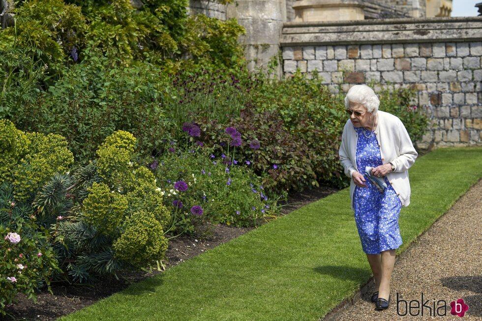 La Reina Isabel en el homenaje al Duque de Edimburgo por el que hubiera sido su centenario