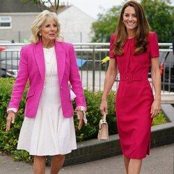Kate Middleton y Jill BIden en una escuela de Cornualles