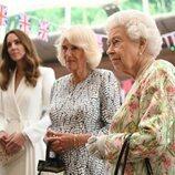 La Reina Isabel, Camilla Parker y Kate Middleton en la Cumbre del G7 en Cornualles