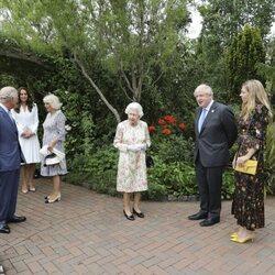 La Familia Real Británica con Boris Johnson y Carrie Symonds en la Cumbre del G7 en Cornualles