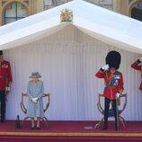 La Reina Isabel y el Duque de Kent en Trooping the Colour 2021