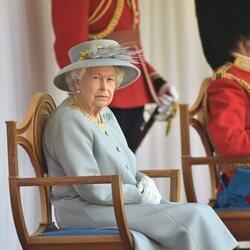 La Reina Isabel en Trooping the Colour 2021