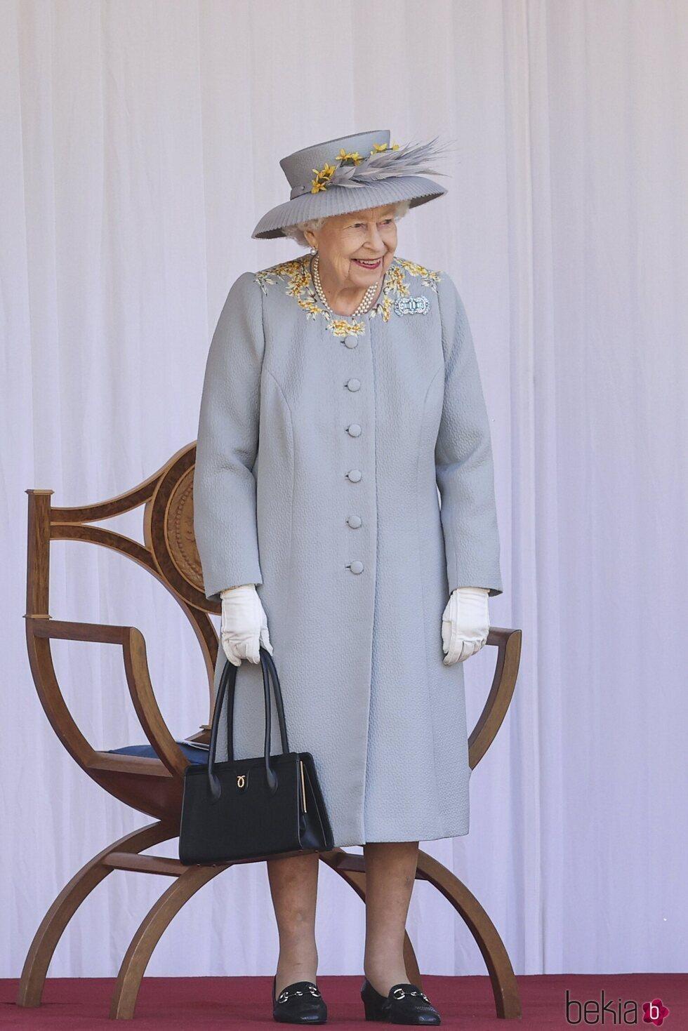 La Reina Isabel en Trooping the Colour 2021 en Windsor Castle