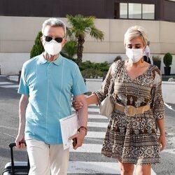 José Ortega Cano y Ana María Aldón llegan al hospital donde ha ingresado el torero