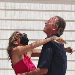 Paz Padilla y Bertín Osborne, emocionados en su reencuentro en Cádiz