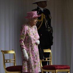 La Reina Isabel en la recepción a los Biden en Windsor Castle