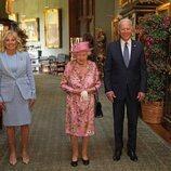La Reina Isabel con Joe y Jill Biden en Windsor Castle