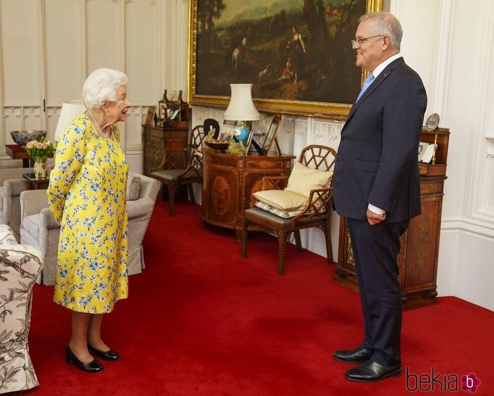 La Reina Isabel y Scott Morrison en Windsor Castle