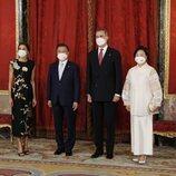 Los Reyes Felipe y Letizia con el Presidente de Corea del Sur, Moon Jae-in, y la Primera Dama Kim Jung-sook, en la cena de Estado en su honor