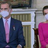 Los Reyes Felipe y Letizia en la imposición de condecoraciones de la Orden del Mérito Civil 2021
