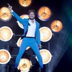 David Bisbal durante su concierto de inicio de gira en Madrid