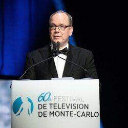 Alberto de Mónaco en la clausura del Festival de Televisión de Monte-Carlo 2021