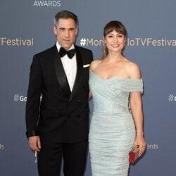 Unax Ugalde y Natalia Verbeke en la clausura del Festival de Televisión de Monte-Carlo 2021