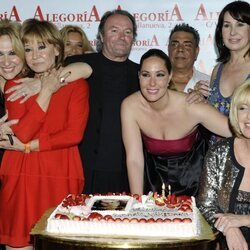Rosa Benito, Mila Ximénez, Amador Mohedano, Juan de los Chunguitos, Carmen Martínez-Bordiú , Rosario Mohedano y Bárbara Rey