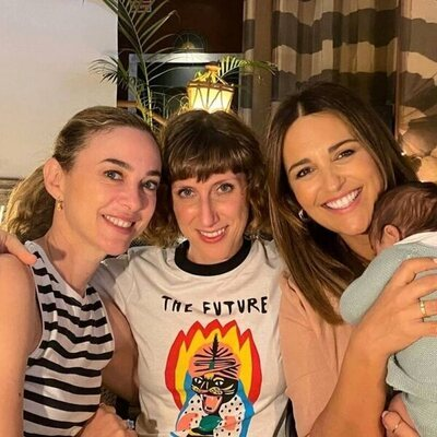 Paula Echevarría con su hijo Miguel, Marta Hazas y Cecilia Freire