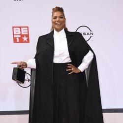 Queen Latifah en la alfombra roja de los BET Awards 2021