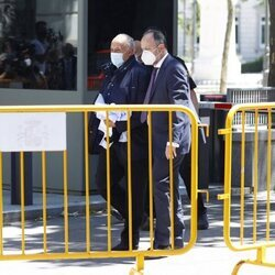 José Luis Moreno saliendo de la Audiencia Nacional