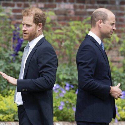 El Príncipe Guillermo y el Príncipe Harry se dan la espalda en la inauguración de la estatua de Lady Di
